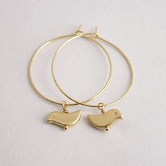 gold bird hoops