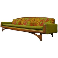 Kroehler Mid-Century Modern Walnut Sofa After Adrian Pearsall