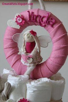 Cute girly wreath with name!