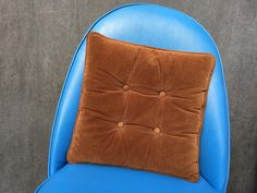 """60's Square Corduroy Pillow, Dark Brown - 15"""" by ElkHugsVintage on Etsy"""