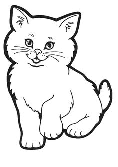 Coloriage chaton 1 sur Hugolescargot.com - Hugolescargot.com