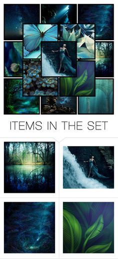 """""""Land, Sea, Sky - An Art Collage"""" by mimi1207 ❤ liked on Polyvore featuring art and creativesets"""