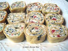 Lynda's Recipe Box: Tortilla Pinwheel Appetizers