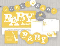 Printable Safari Animal Baby Shower