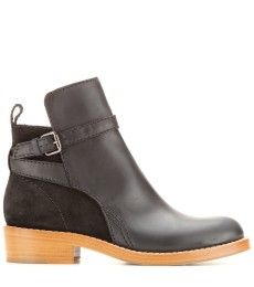 Acne Studios - Clover suede and leather ankle boots Old Boots, Acne Studios,  Leather 95af9d8aa0a