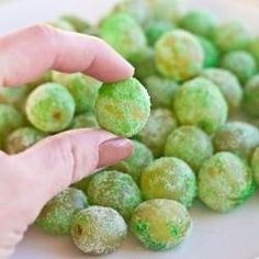Sour Patch Grapes-clean grapes and koolaid powder