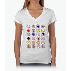 Runes --- Runescape Womens V-Neck T-Shirt