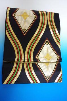 Kimono Dress Japan OBI Band used Fukuro Geisha band Vintage Kabuki160411_510S2
