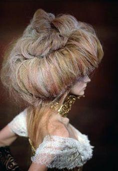hair whoa big teased powdered crimped
