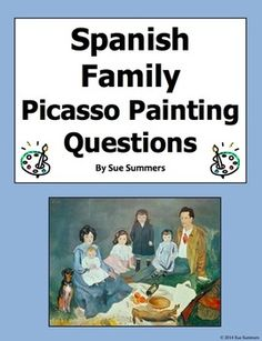 Spanish Family - Picasso's Soler Family 8 Questions and 7 Image IDs Learning Spanish, Spanish Grammar, Spanish Art, Spanish Culture, Spanish Vocabulary, Spanish Activities, Spanish Teacher, Spanish Classroom, How To Speak Spanish