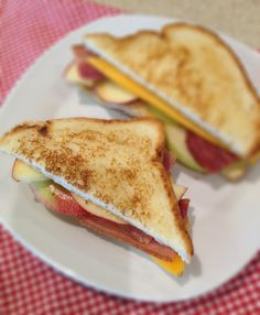 Grilled Cheese with Apples & Bacon #eckertsrecipes