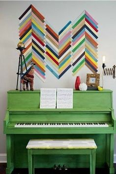 try this colorful wall accent