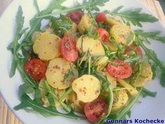 Kartoffelsalat mit Rucola  - #Rezept