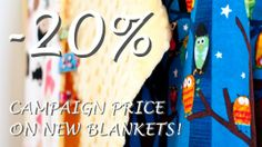 DON'T MISS OUT! ONLY 3 MORE DAYS! SPECIAL 20% OFF ON NEW BLANKETS! Perfect Christening present or  Baby Shower gift.    www.loolyby.se #special, #blankets, #NewBlankets, #christening, #BabyShower, #present, #gift
