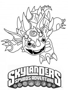 Printable Skylanders Coloring Pages Birthday Ideas Pinterest