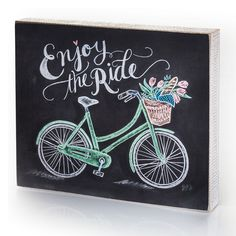 Enjoy The Ride Plaque  Gift Ideas for the Bikers.    Plus FREE SHIPPING. Code:  ONEDSN9F  http://www.femailcreations.com/search?k=Bicycle  #UniqueGifts #GiftsForWomen #Gifts #GiftsForAllOccassion #ChristmasShopping #HolidayShopping #Christmas #Holiday