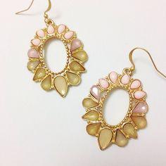 Blush Crystal Teardrop Earring $10 sparkleandwhim.com