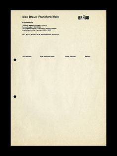 Letterhead design for Braun by ryangerald, via Flickr