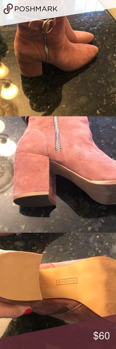 Steven by Steve Madden ankle boots Mauve colored. Used once. 3 inch heel Steven By Steve Madden Shoes Heeled Boots