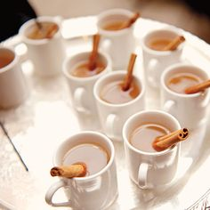 Upon arrival, guests were greeted with mugs of warm apple cider.       Photo by Pen Carlson.