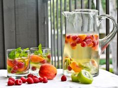 Fruit infused water...hmmm...hmmmm.good