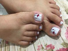 Pretty Toe Nails, Pretty Toes, Pedicure Designs, Toe Nail Designs, Cute Pedicures, Beautiful Toes, Cute Toes, Winter Nail Art, Trendy Nails