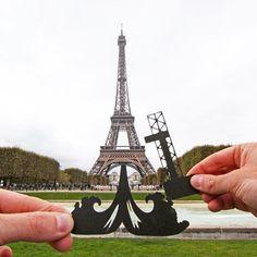 Recortes de papel e muita criatividade nas fotos turísticas de Rich McCor - Rich McCor utilliza recortes de papel para brincar com o contexto da fotografia de um modo muito criativo. Confira!