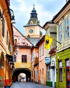 My colorful Brașov Brasov Romania, Bucharest Romania, Mall Of America, North America, Europe On A Budget, Budget Travel, Transylvania Romania, Visit Romania, Visit Prague