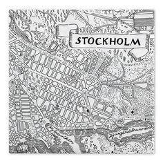 paper napkin - stockholm pattern