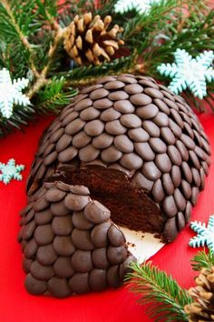 Bei diesem Anblick wird nicht nur jeder Nikolaus schwach: Ob jung oder alt - dieses köstliche Rezept für den Weihnachts-Kuchen Tannenzapfen eignet sich für jede Weihnachtsfeier!