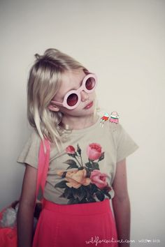 Super-cool summer campaign from Wildfox Kids, photographed by Kimberly Gordon with cartoons by Emily Faulstitch.