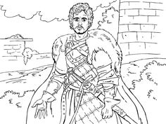 game of thrones colouring in page robb - Colouring In Game