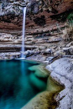 The Waterfall of Portellada in Teruel, Spain. Beautiful World, Beautiful Places, Waterfall Fountain, Beautiful Waterfalls, End Of The World, Nature Photos, Adventure Travel, National Parks, Scenery