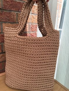 Handbag/ Knitted Bag/ Rope Bag/ Handmade Bag/ Crochet by MadeByGJ