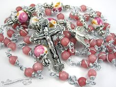 Morganite Pink Unbreakable Rosary confirmation gift pink rosary catholic gift keepsake rosary catholic rosaries ladies rosary girls gift by OohlalaBeadtique on Etsy https://www.etsy.com/ca/listing/493866012/morganite-pink-unbreakable-rosary #rosary #rosaries #pinkrosary #unbreakablerosary #catholicrosaries #keepsakerosary#confirmationgift #catholicgift #communiongift