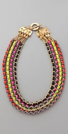 What I like: CC SKYE Neon Multi Chain Necklace