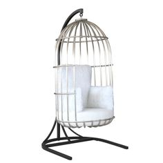 fine mod imports bird hanging chair