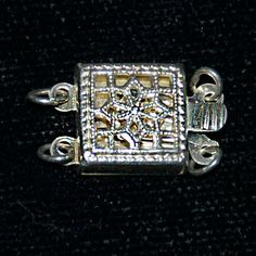 3 Sterling SIlver Filigree Openwork Clasps - 3 Connectors and Square, 2 Connectors and Square, 1 Connector and Marquise by SilverRosesJewelry on Etsy