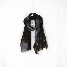 Cobweb Felted Scarf Wool Scarf Gifs for Her Winter Scarf Fall Scarf... (175 PLN) ❤ liked on Polyvore featuring accessories, scarves, fibernique, woolen scarves, brown scarves, lightweight shawl, grey shawl and grey scarves