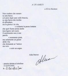 A un amico | Poesie di Alda Merini | Poesie