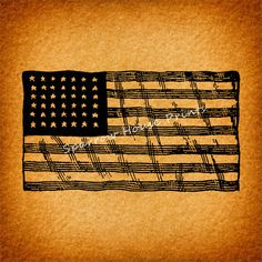 Vintage American Flag Wall Art vintage art american flag wall art print antique artwork in dark