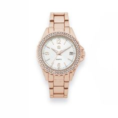 Bargain - $79 (was $129) - G Ladies Rose Gold Tone Stone Watch @ Goldmark (NZ)