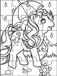 Printable Jigsaw Puzzles To Cut Out For Kids My Little Pony 3 Coloring Pages