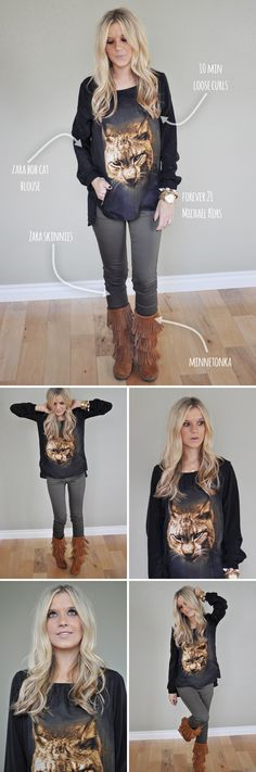 I want it all - especially those boots! via Pink Pistachio