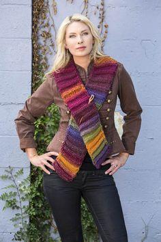 Free Knitting Pattern - two ball Accordion Scarf in Wisdom Yarns Poems Chunky