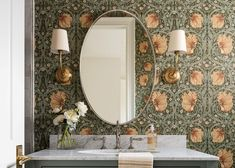 """Bold Floral Wallpaper Is Back BIG TIME... But With A Very """"2020"""" Makeover - Emily Henderson #bathroomdesign #homedecor #wallpaper Emily Henderson Design, Wallpaper, Wall Wallpaper, Emily Henderson, Floral Wallpaper, Feature Wall Wallpaper, Wallpaper Accent Wall, Decorating Small Spaces, Emily Henderson Living Room"""