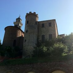 Castle and church in Calosso, Piemonte, Italy http://www.winepassitaly.it/index.php/en/travel-wineries-piedmont/maps-and-wine-zones/asti-and-moscato/itinerary/moscato-sweet-with-a-wild-side#!prettyPhoto