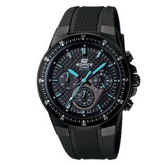 Men's Wrist Watches - Casio Mens EF552PB1A2V Black Resin Quartz Watch with Black Dial *** You can get more details by clicking on the image. (This is an Amazon affiliate link)