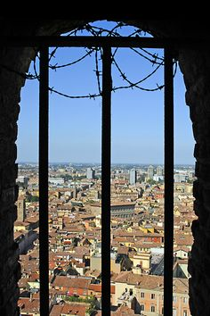 """The view from Asinelli Tower - """"A birds eye view of Bologna!"""" by @Kathryn Burrington"""