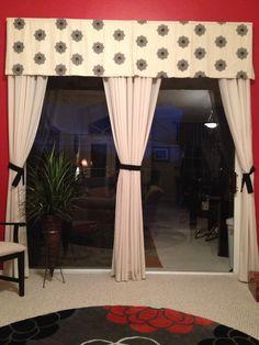 Valance Cornice For Sliding Glass Doors In Kitchen For